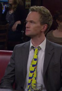Stropdas met gele eendjes Barney Stinson in How I Met Your Mother